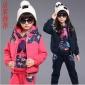 女童春秋冬新款运动卫衣三件套 加厚加绒女中大童套装 厂家直销