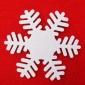 新款12月25号圣诞节雪花贴饰配饰定制圣诞白色雪花贴饰装饰配件