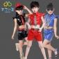 布丁小丘儿童演出服男童演出服女童爵士舞表演服A021