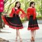 舞蹈套装春夏季新款广场舞舞蹈服装定制优质女式大摆裙三件套批发