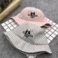 春夏季新款男女童盆帽渔夫帽儿童帽子经典条纹款遮阳防晒帽2-6岁