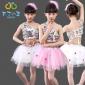 布丁小丘新六一儿童演出服纱裙女童舞蹈服幼儿园蓬蓬裙小学生表演