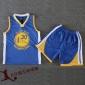 NBA儿童篮球服库里队球衣套装幼儿园中小学生篮球服勇士库里