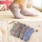 夏季纯棉袜子男日系卡通刺绣船袜透气学院风短袜可爱袜子厂家批发