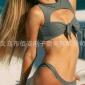 2019年欧美WISH亚马逊新品厂家军绿比基尼坑条打结女士泳衣Bikini