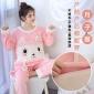秋冬月子服法兰绒加厚孕妇睡衣产后哺乳睡裙袍珊瑚绒加绒保暖喂奶