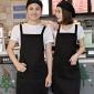 广告围裙定制logo印字韩版时尚奶茶店花店咖啡店工作服订做厨房