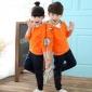 2017新款秋冬季园服校服儿童纯色运动服套装幼儿园班服纯棉两件套
