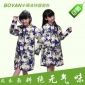 外贸原单儿童雨衣带书包男童卡通雨衣韩国时尚学生雨衣一件代发
