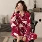 睡衣女士春秋季长袖薄款珊瑚绒家居服法兰绒秋冬季冬款海岛绒套装