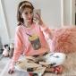 睡衣女冬季珊瑚绒加厚保暖2018新款韩版秋冬装学生长袖法兰绒套装
